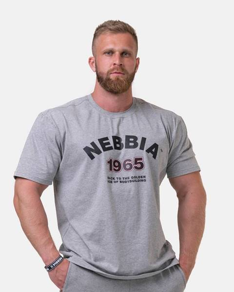 Nebbia NEBBIA Tricko Golden Era Grey  M