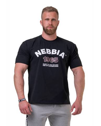 Pánske tričko Nebbia Golden Era 192 Black - M