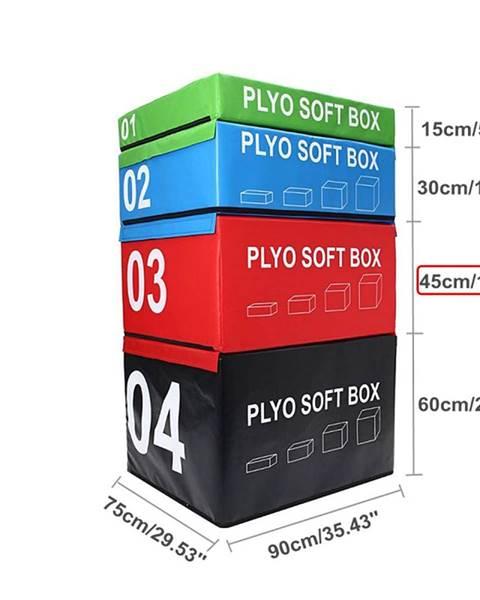 Sedco SOFT PLYOBOX SEDCO 90x75x15-60 cm - Červená