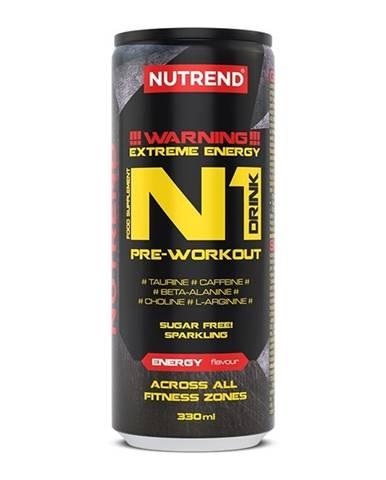 N1 Pre-Workout Drink - Nutrend 330 ml. Energy