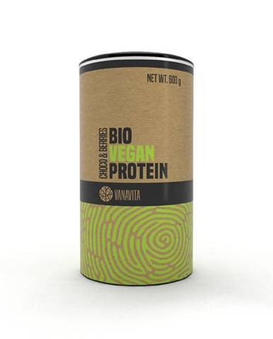 VanaVita BIO Vegan Protein 600 g banán jahoda