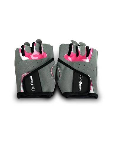 GymBeam Fitness Dámske rukavice Camo Pink  XS