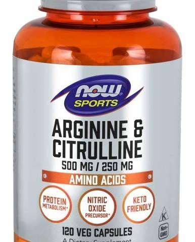 NOW Foods Arginine & Citrulline 120 kaps.