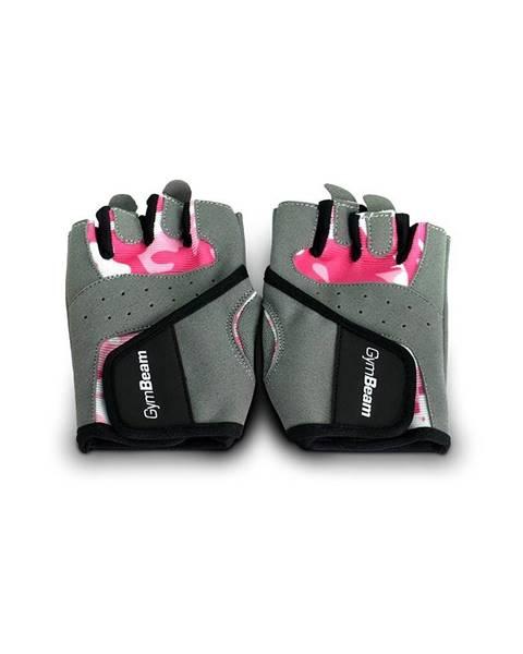 GymBeam GymBeam Fitness Dámske rukavice Camo Pink  S