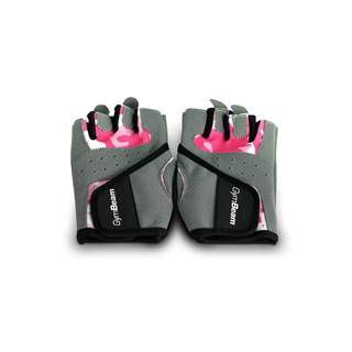 GymBeam Fitness Dámske rukavice Camo Pink  S