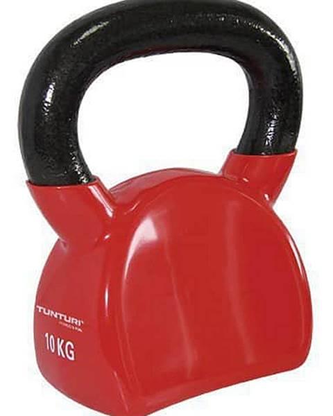 Tunturi Kettlebell litinový ve vinylu TUNTURI 10 kg červený