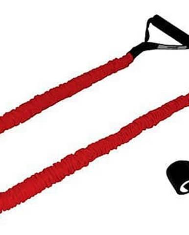 Gumový posilovač v ochranném obalu,obtížnost těžká,červený