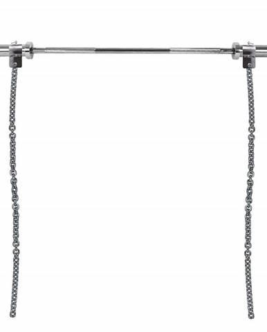 Vzpieračské reťaze s tyčou inSPORTline Chainbos Set 2x15 kg