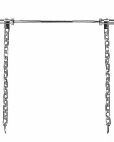 Vzpieračské reťaze s tyčou inSPORTline Chainbos Set 2x20 kg