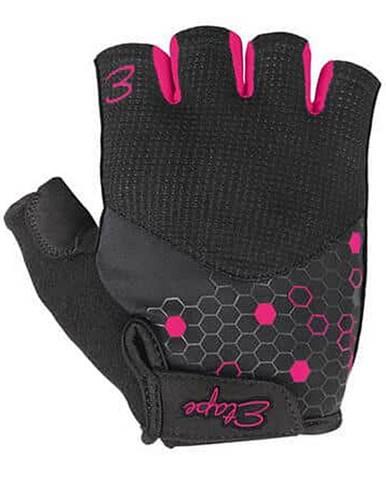 Betty cyklistické rukavice černá-růžová Velikost oblečení: M