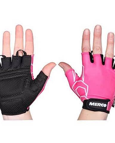 BG Gel 02 cyklistické rukavice růžová-černá Velikost oblečení: XS
