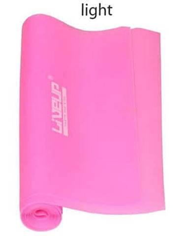 Aerobic guma posilovací guma 120 x 15 cm růžová Rozměr: L