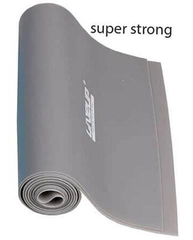 Aerobic guma posilovací guma 120 x 15 cm šedá Rozměr: SS