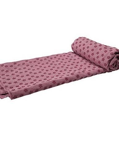 Ručník na JOGU TUNTURI 180 x 63cm růžový s taškou