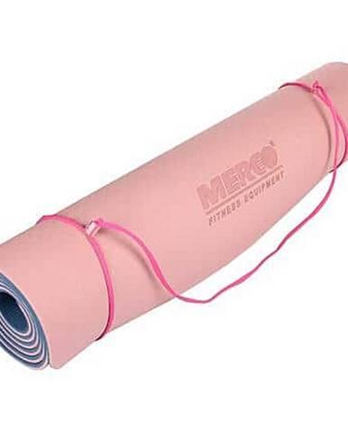 Yoga TPE 6 Double Mat podložka na cvičení růžová-modrá