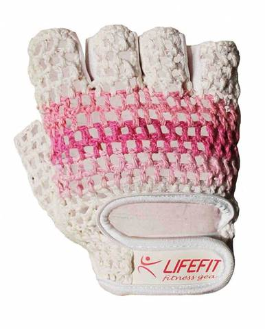 Rulyt Fitnes rukavice LIFEFIT KNIT, vel. M, růžovo-bílé Rulyt Fitnes rukavice LIFEFIT KNIT, vel. M, růžovo-bílé Oblečení velikost: M