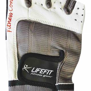 Lifefit Fitnes rukavice LIFEFIT PRO, vel. M, bílé Oblečení velikost: M