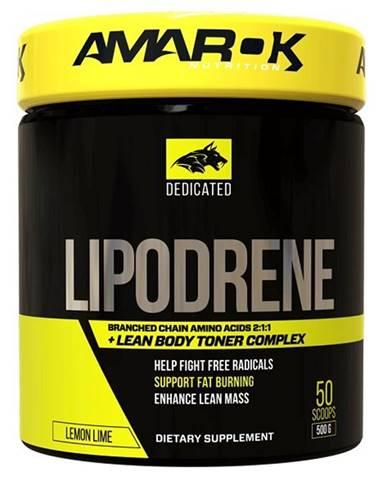 Dedicated Lipodrene + BCAA - Amarok Nutrition 500 g Lemon Lime