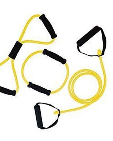 Tunturi Gumový expandér s úchopy sada 3 ks TUNTURI lehká žlutý