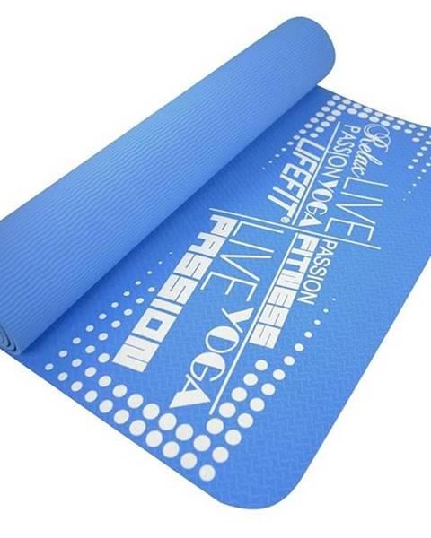 Lifefit Podložka LIFEFIT YOGA MAT TPE, 183x61x0,4cm, modrá