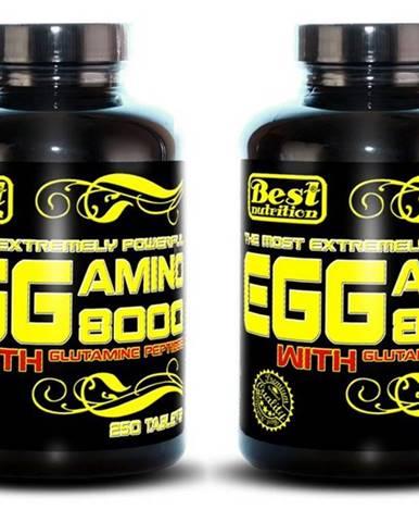 1+1 Zadarmo: EGG Amino 8000 od Best Nutrition 250 tbl. + 250 tbl.
