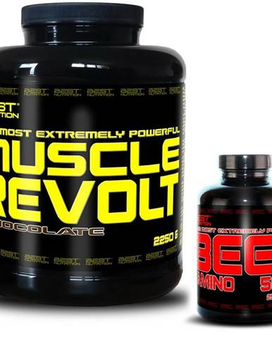 Muscle Revolt + BEEF Amino Zadarmo - Best Nutrition 2250 g + 250 tbl. Banán