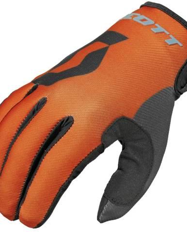 Motokrosové rukavice Scott 350 Track MXVI modro-oranžová - XL