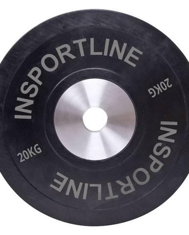 Gumový kotúč inSPORTline Bumper Plate 20 kg