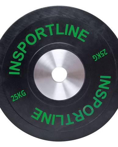 Gumový kotúč inSPORTline Bumper Plate 25 kg