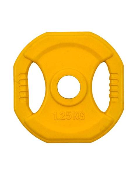 Insportline Hranatý pogumovaný kotúč inSPORTline Pump 1,25 kg
