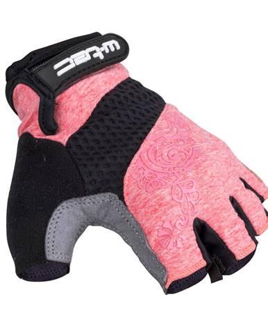 Dámske cyklo rukavice W-TEC Atamac šedo-lososová - XS