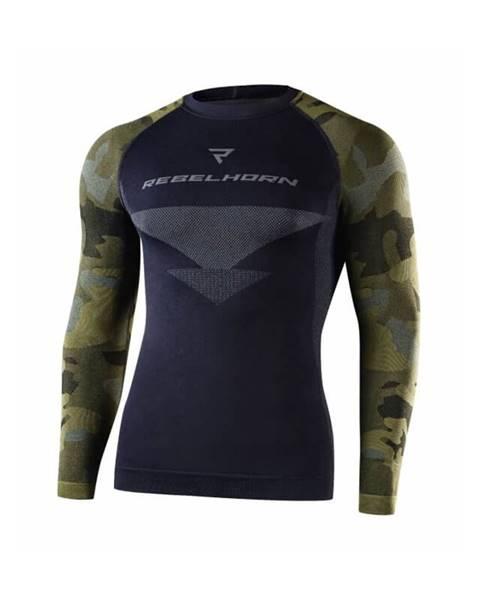 Rebelhorn Moto thermo tričko Rebelhorn Freeze Jersey LS čierna-kamufláž - XS