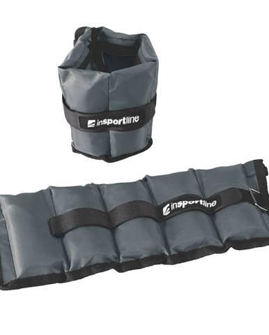Nastaviteľné závažie na členok/zápästie inSPORTline GrayWeight 2x1 kg