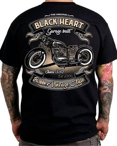 Tričko BLACK HEART Bobber 350 čierna - M