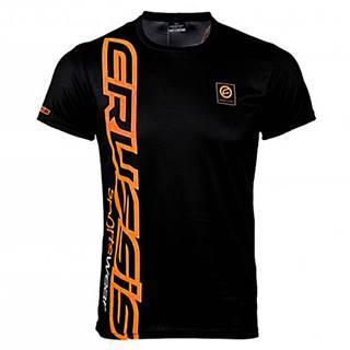 Pánske tričko s krátkym rukávom CRUSSIS čierno-oranžová čierno-oranžová - S