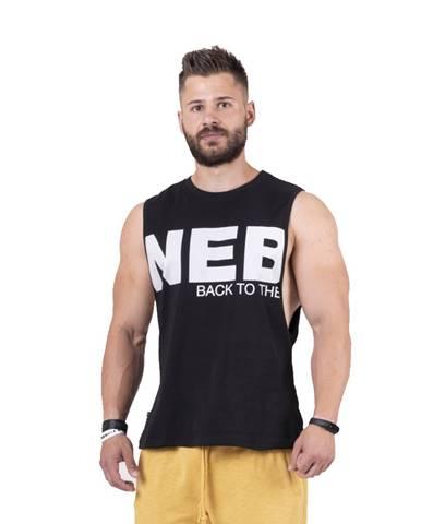 Pánske tielko Nebbia Back to the Hardcore tank top 144 Black - L
