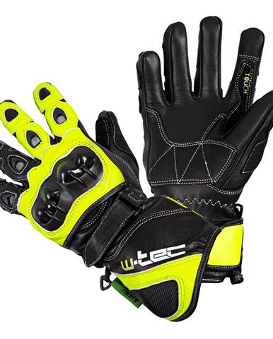Motocyklové rukavice W-TEC Supreme EVO čierno-zelená - S