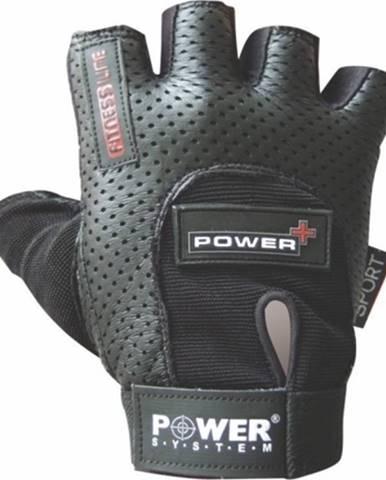 Power System Fitness rukavice Power Plus čierne variant: L
