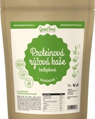 GreenFood Proteínová ryžová kaša bezlepková 500 g variant: banán