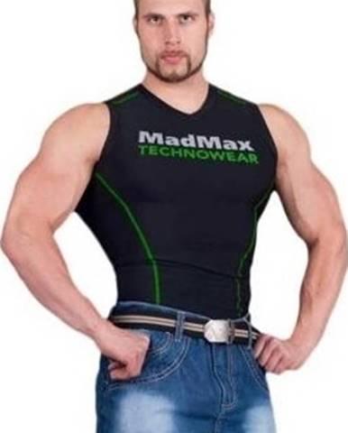 Madmax Kompresné tričko bez rukávov MSW904 čiernozelené variant: L