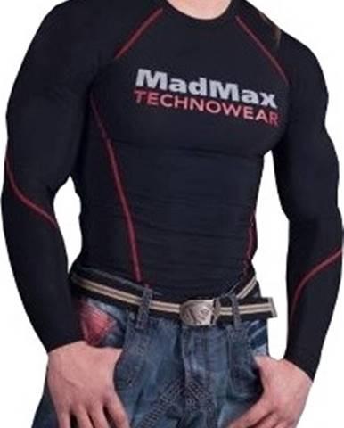 Madmax Kompresné tričko s dlhým rukávom MSW902 čiernočervené variant: L