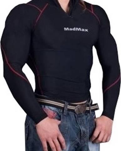 Madmax Kompresné tričko s dlhým rukávom so zipsom MSW903 čiernočervené variant: L