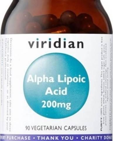 Viridian Alpha Lipoic Acid 200 mg (Kyselina alfa lipoová - ALA) 90 kapsúl