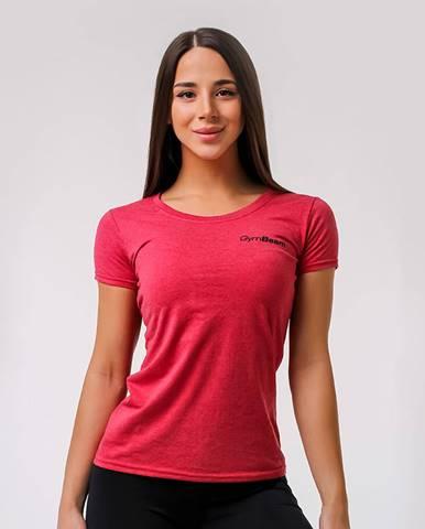 GymBeam Dámske tričko Basic Vintage Red  XS