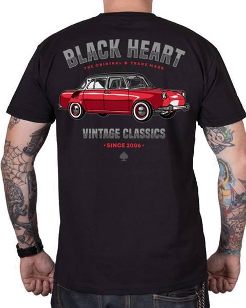 BLACK HEART Tričko BLACK HEART MB čierna - M
