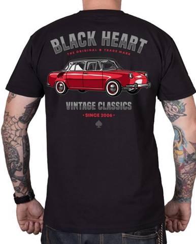 Tričko BLACK HEART MB čierna - M