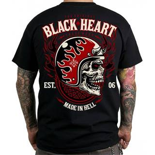 Tričko BLACK HEART Hatter čierna - M