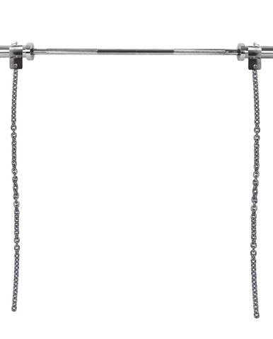 Vzpieračské reťaze s tyčou inSPORTline Chainbos Set 2x10 kg