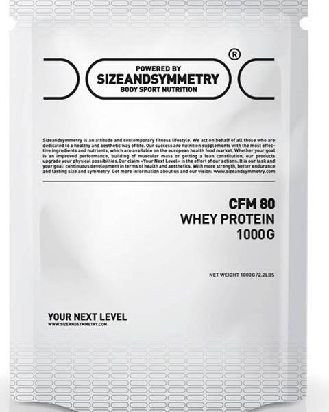 Sizeandsymmetry Sizeandsymmetry Whey 80 CFM 1000 g variant: čokoláda