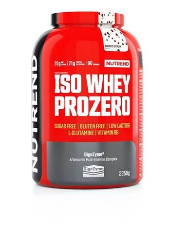 Nutrend ISO Whey ProZero 2250 g variant: čokoláda - brownie